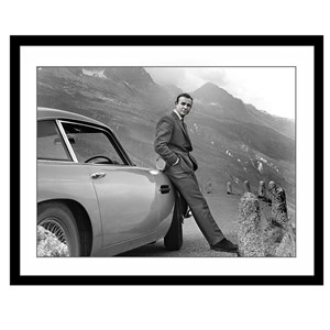 Glass picture w/frame Sean Connery GOLDFINGER 80cm x 120cm