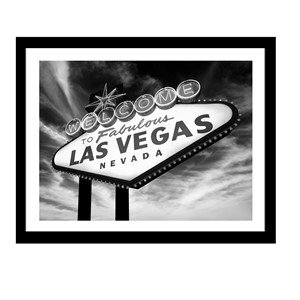 Glass picture w/frame Welcome to Las Vegas 90cm x 70cm