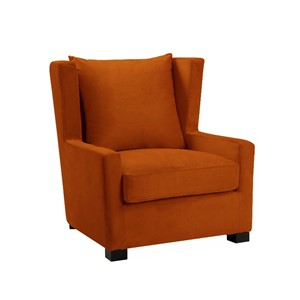 Stol  Kingston halvrund B81 D93 H89 Velour Orange